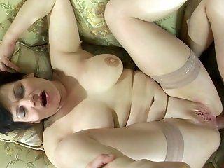 Anal,Mature,Stockings,BBW,Big Tits Nasty mom Elsa is...