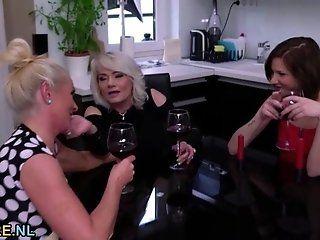 Lesbian;Amateur;Mature;Blonde Two blonde...