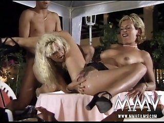 German,Blonde,Mature,Hardcore,Threesomes,Blowjob Two sexy...