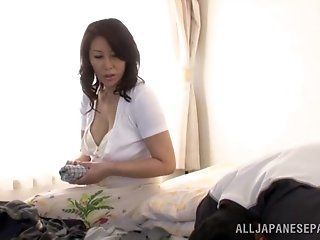 Asian,Japanese,Mature,Big Tits,Blowjob,Cumshots,Hardcore Wako Anto is a...