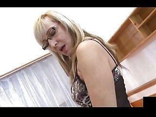 Blowjob;Cumshot;Mature;MILF;Blonde;Lingerie Mature fuck