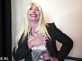 Big Tits;Amateur;Mature;Masturbation;Blonde;Lingerie;HD Busty mature...