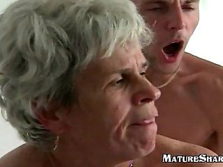 Amateur,Grannies,Mature Young Guy Fucks...
