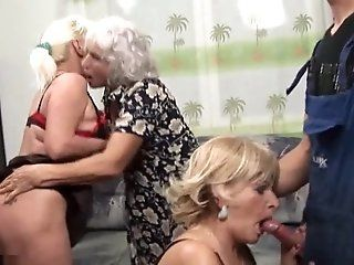 Grannies,Hairy,Group Sex,Mature