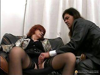 Mature;MILF;Redhead Older lady on a...