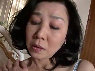 Japanese,Mature Mother desire young cock  and seduced...