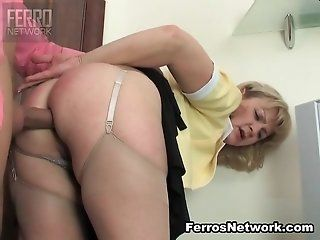Anal,Mature,Stockings,Blonde Emilia the...