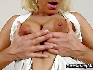 Big Tits;Amateur;Mature;Blonde Stockings cougar...