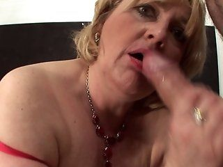 Mature,Blowjob,Blonde Aged blonde...