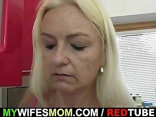 Amateur;Mature;MILF;Blonde;Young and Old Wife comes in and...