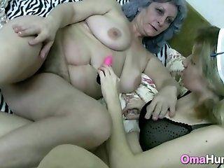 Lesbian;Mature;HD Gray Granny Eats...