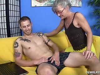 Cumshot;Mature;HD Horny granny gets...