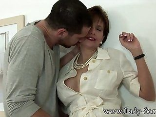 Big Tits;Mature;MILF;HD Lady Sonia gets fucked by husbands...