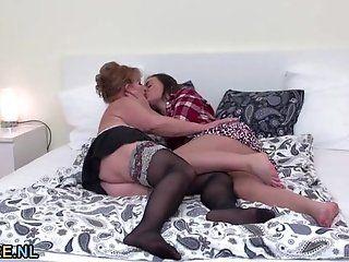 Big Tits;Lesbian;Amateur;Mature Mature lady in...