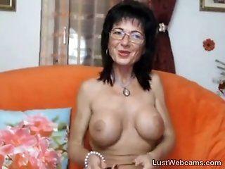 Big Tits;Mature;Masturbation Busty mature...