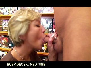 Big Tits;Public;Mature;Blonde Anja granny...
