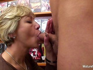 Public;Mature;Blonde;HD Sexy mature fucks...