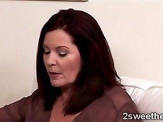 Lesbian;Mature;MILF;Blonde Magdalene eats Sara Jaymes young pussy