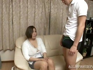 Asian,Big Tits,Japanese,Blowjob,Cumshots,Mature Reiko Yumeno is a...