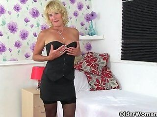Big Tits;Mature;Blonde British milf...