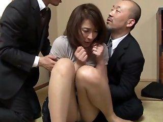 Asian,Japanese,Mature,Blowjob,Cumshots,Group Sex,Stockings,Hardcore,Threesomes Hisae Yabe is a...