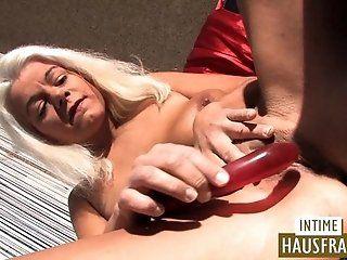 Big Tits;Blowjob;Cumshot;Mature;Blonde;HD Ich teste Dildos!