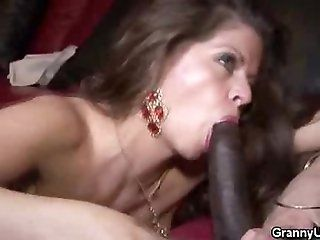 Big Tits;Mature;Interracial Mature Honey Gets...