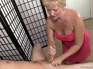 Big Tits;Cumshot;Mature;Blonde;HD Cum splatter for...