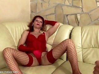 Anal;Amateur;Mature;Creampie;Lingerie;HD Mature lady gets...