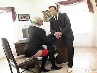 Mature;MILF;Blonde;Lingerie Kathy Anderson in Secretaries