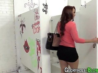Blowjob;Cumshot;Mature;HD Gloryhole slut spunked