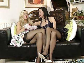 Lesbian;Mature;HD Brit milf toys...
