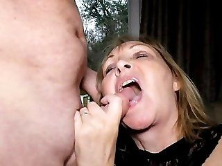 Cumshot;Mature swallowin' a...