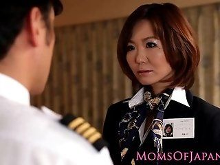 Anal;Amateur;Asian;Group;Mature;Japanese;Facials;HD Asian milf flight attendant rammed in...