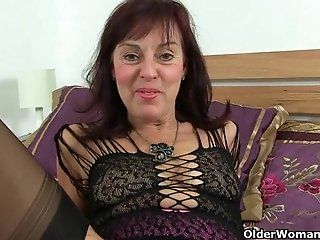 Mature;MILF;Masturbation;Lingerie;HD 62 year old...