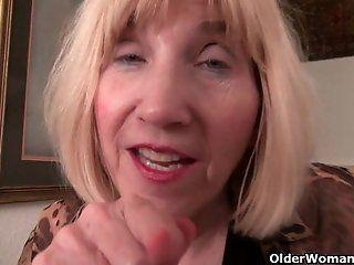Mature;Blonde;HD Skinny granny...