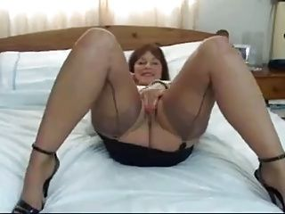 Masturbation;Matures;Stockings Lady Shows All 15