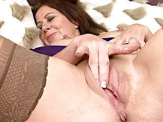 Massage;Masturbation;Matures;MILFs;Stockings;Sexy;Solo;Mature Masturbates;Masturbates Sweet Mature in Stockings Masturbates
