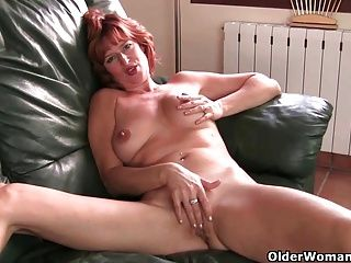 Fingering;Masturbation;Matures;MILFs;Redheads;Redhead;Masturbating;Big Tits;Natural Tits;British MILF;Hot Mature;Mature Solo;Granny;Mother;Grandma;GILF;Finger Fuck;English;Old;Older;Older Woman Fun British milf Liddy masturbates and...