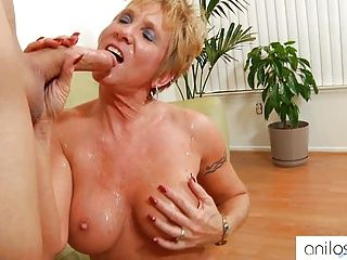 Facials;Hardcore;Matures;Granny;Pierced Clit;Pussy Licking;Oral Sex;Fucking;Granny Facials;Horny Granny;Anilos Horny granny loves facials