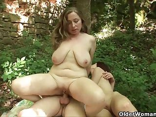 Cumshots;Grannies;Matures;MILFs;Old+Young;Old;Outdoors;Mother;Older;GILF;Granny;Fantasy Sex;Deepest;Sex Outdoors;Having Sex;Having;Older Woman Fun Mom's...