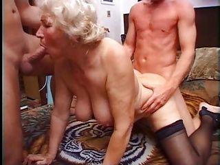 Grannies;Matures;Threesomes;Granny;Play;Granny Norma;Two Cocks Granny Norma Has...