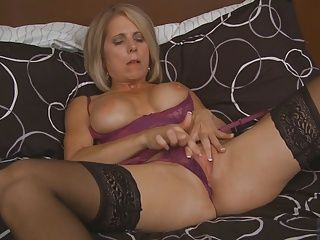 Masturbation;Matures;Stockings;MILF Stockings;Black Stockings;MILF Masturbates;Black MILF;Masturbates;Black Blond milf...