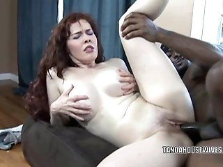 Blowjob,Interracial,Mature,MILFs,Redhead,Black and Ebony Mature redhead...