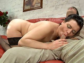 Hardcore,Mature,Stockings,Brunette Check out how...