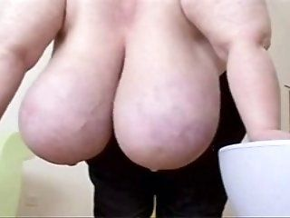 Mature,Big Tits,Oldie Kinky granny with...