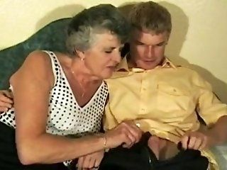 Grannies,Mature Hot Granny screwed by youthful...