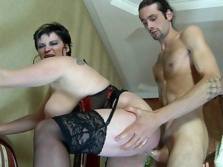 Hardcore,Mature,Stockings,Brunette,BBW Gerhard had just...