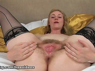 Hairy,Blonde,Masturbation,Mature,Lingerie Verina Tarrant is...