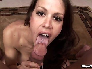 Big Tits;Amateur;Mature;MILF;POV;HD Bustybrunette mature sticks his dick...